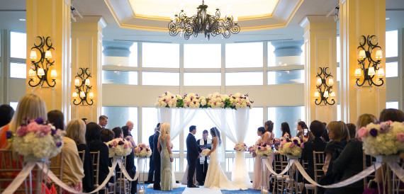 wedding ceremony at Boston Harbor Hotel