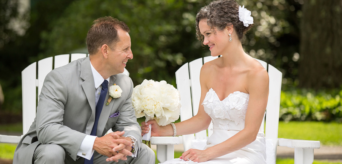 Marisa and Seth's Woodstock Inn, Garden Wedding | Photography by