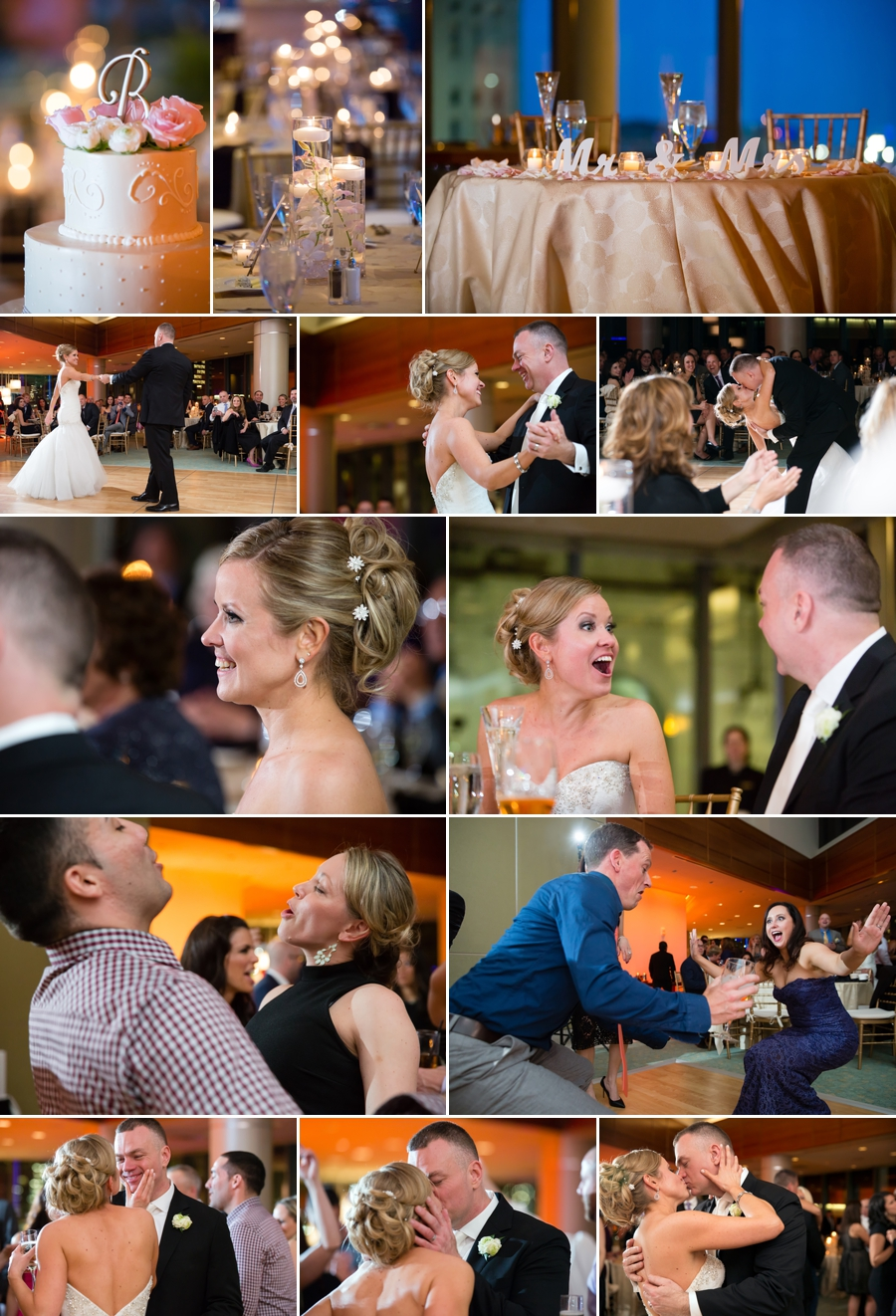 wedding reception image collage