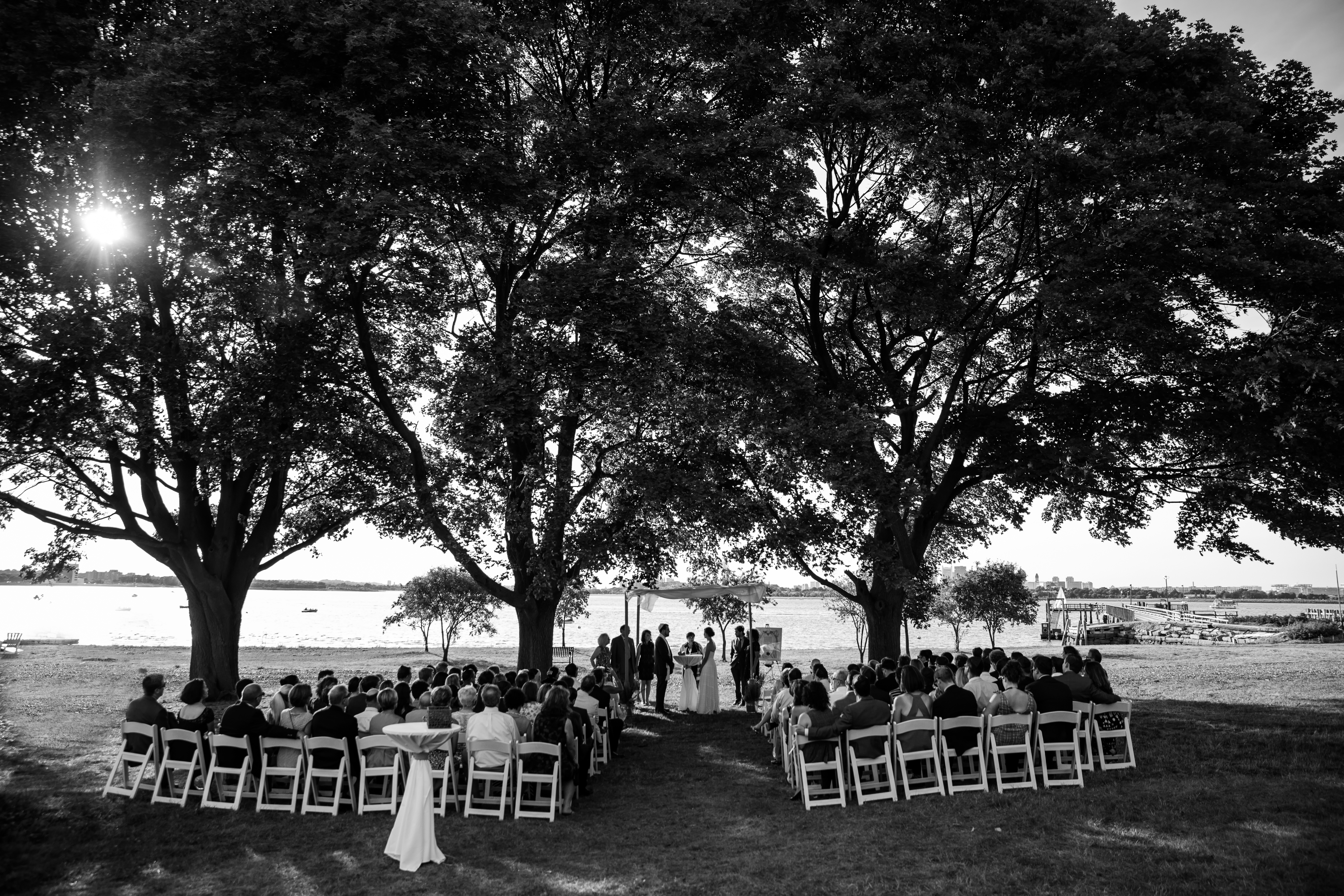 outside ceremony at Thompson Island