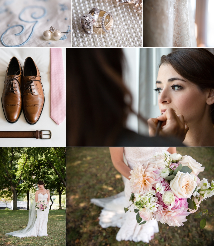 getting ready wedding photo collage