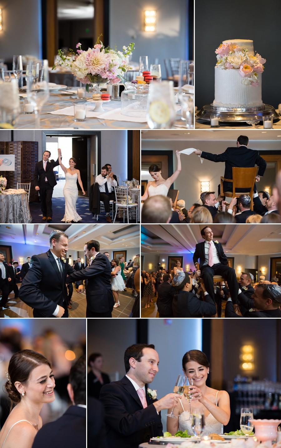 wedding reception photo collage