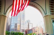 American Flag at Rows Warf