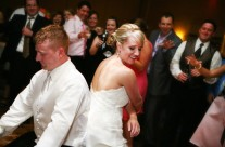 Bride and Groom Cutting a Rug
