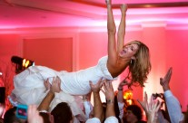 Bride Crowd Surfing