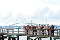Wedding Party on Newport Bridge