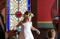 Flower Girl in Church