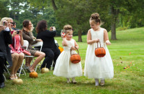 Flower Girls With Pumkins
