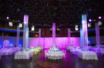 Cyclorama with Crystals and Uplighting