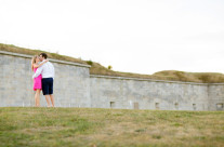 Castle Island Engagement Session