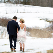 Leanne + Justin's Snowy Wedding at the Barn at Gibbet Hill