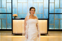 Bride in the Langham Lobby