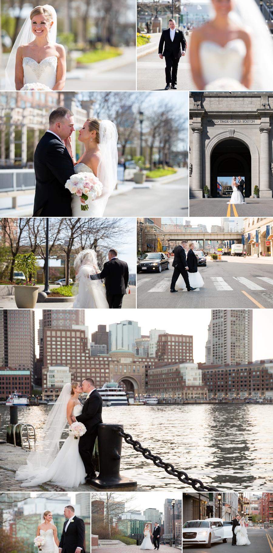 Boston wedding collage