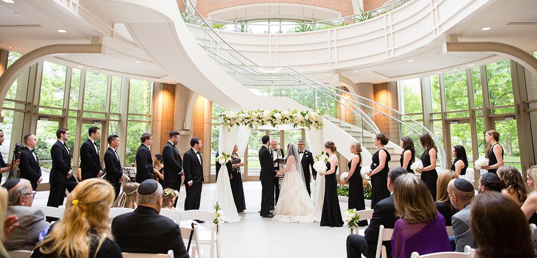 wedding ceremony in Seaport Boston