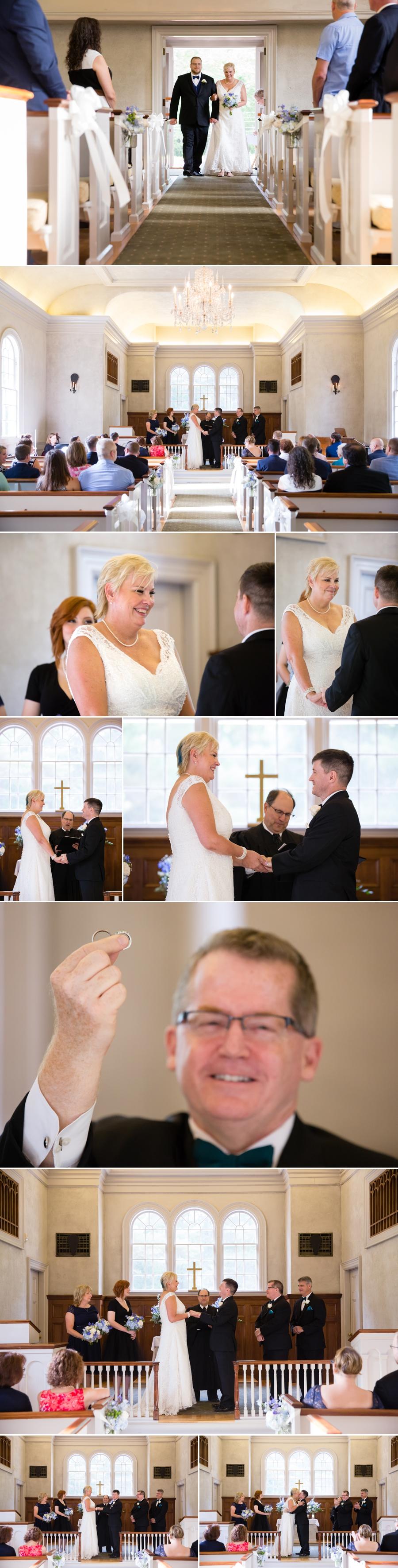 wedding ceremony in Sudbury church