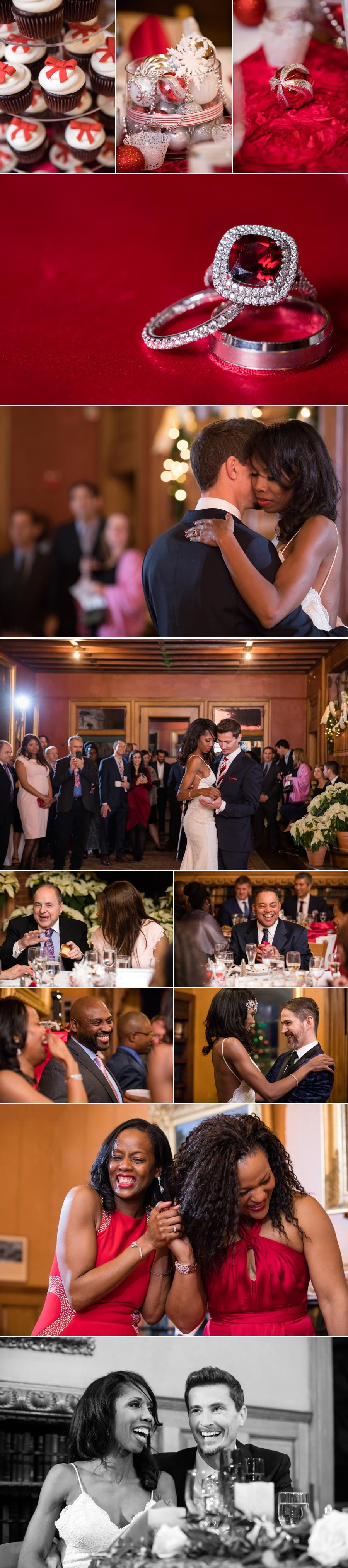 wedding reception collage