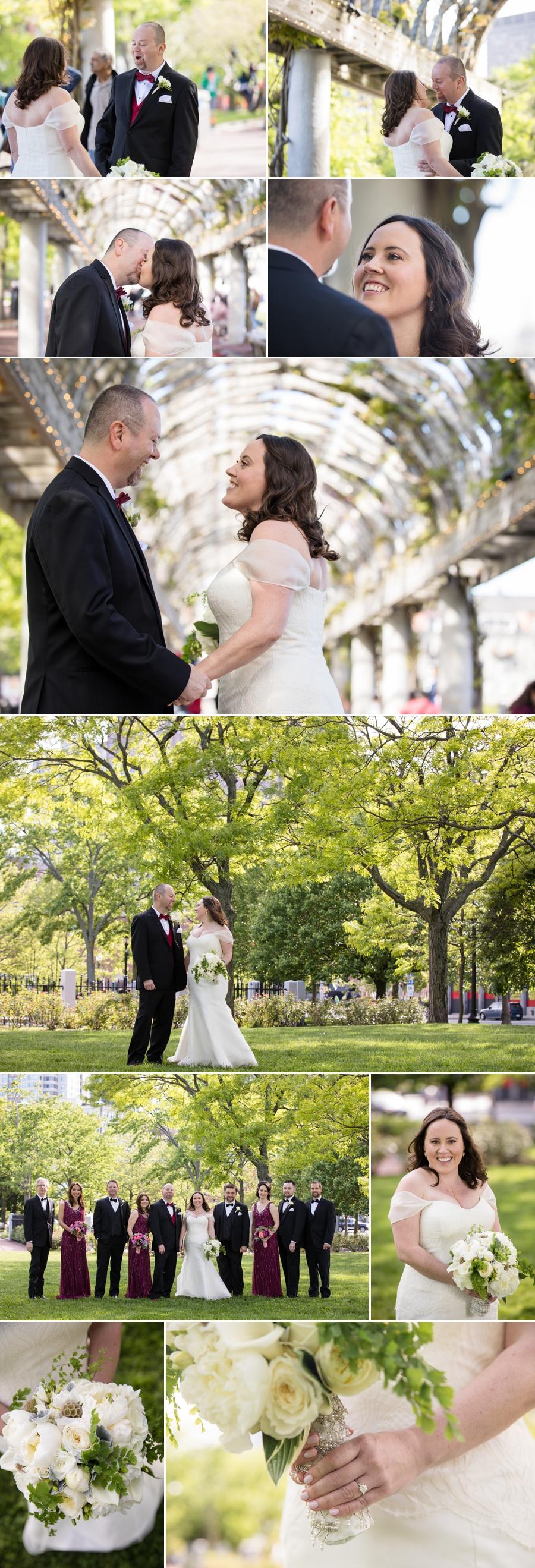 outdoor wedding in boston ma